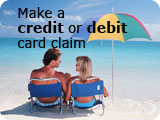 make a credit or debit card claim