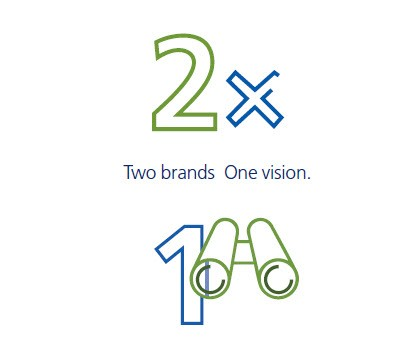 2 brands, one vision